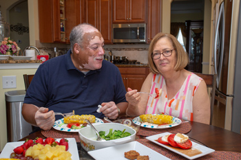 Milton and Deb Brown enjoy cooking healthy meals at their home in Heritage Shores in Bridgeville. Photos by Carolyn Watson Photography.