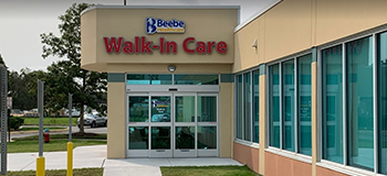 Beebe Walk-In Care Rehoboth location new entrance