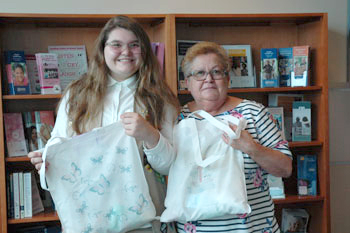Mickayla Austin with grandmother MaryAnn Matyjewicz, a breast cancer survivor who also served as Mickayla's mentor for her Girl Scout Silver Award Project.