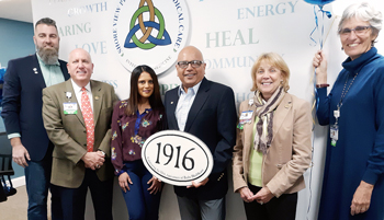 Christian Hudson, Board Chair, Beebe Medical Foundation; Thomas J. Protack, Vice President of Development, Beebe Medical Foundation; Neepa Jani and Uday Jani, MD; Judy L. Aliquo, President & CEO, Beebe Medical Foundation; and Diane Barlow, Gift Planning O