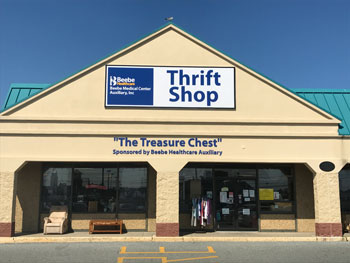 Exterior of The Treasure Chest Thrift Shop