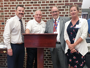 Robbie Murray, Sussex County, EMS Deputy Director Operations, Robert Stuart, Sussex County EMS Director, Rick Schaffner, Beebe Healthcare Interim CEO, Executive Vice President & COO, and Kim Blanch, Community Services Manager, Beebe Healthcare Population