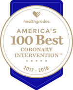 Healthgrades 100 Best Coronoary Intervention Award 2017-2018