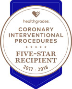Healthgrades Five Star for Coronary Intervention Procedures 2017-2018