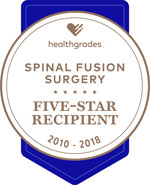 Healthgrades Spinal Fusion Surgery Award 2010-2018
