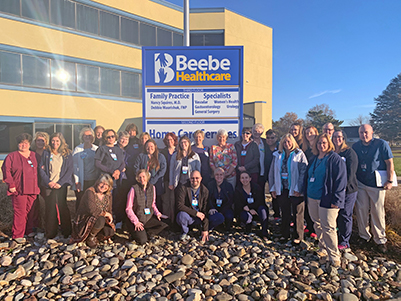The Beebe Home Care Services team pose for a photo.