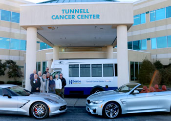 Check presentation at Tunnell Cancer Center