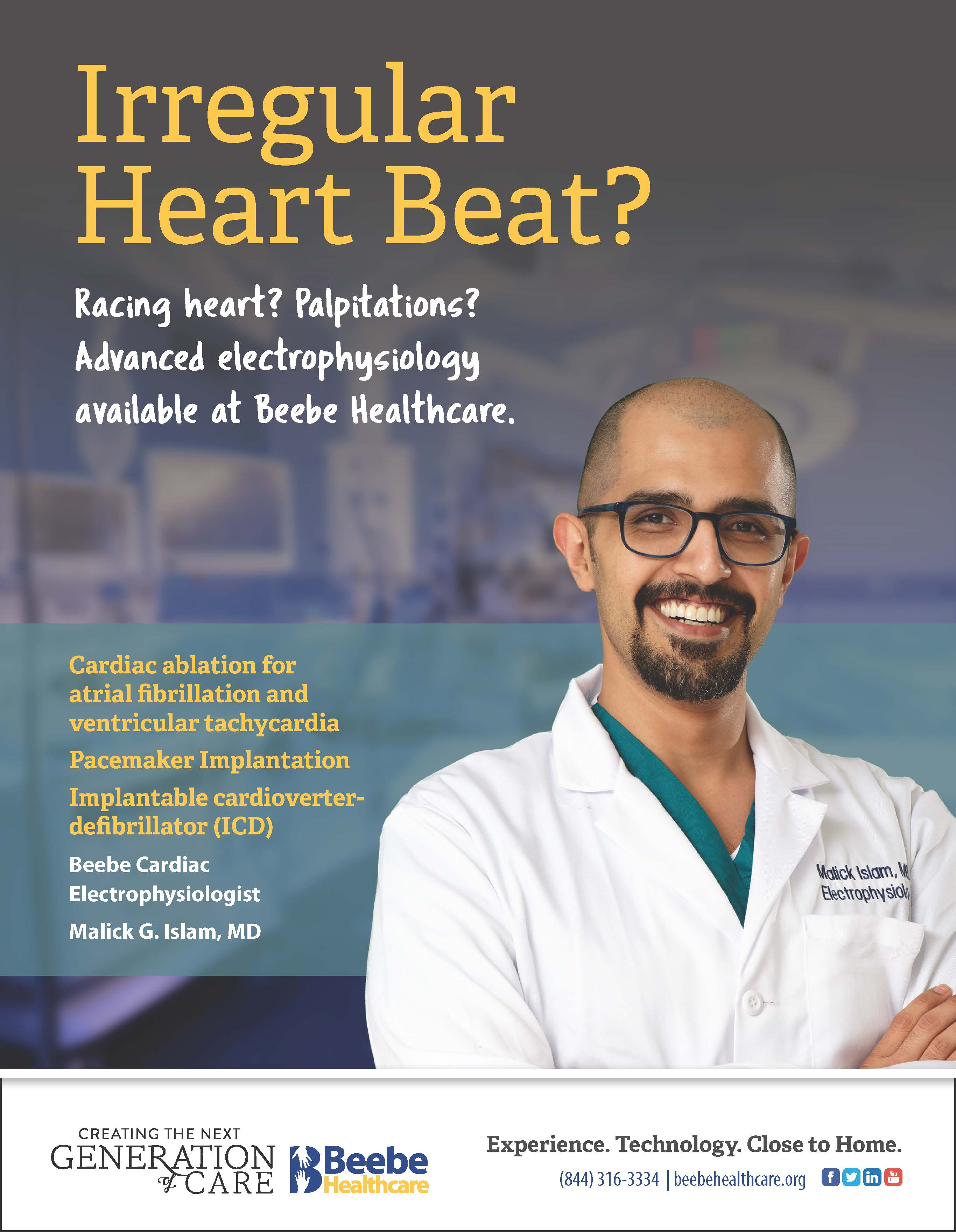 Malick Islam, MD. Delaware Cardiovascular Associates. Call (302) 644-7676.
