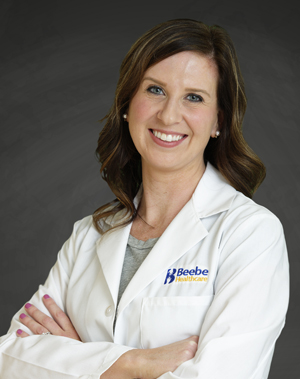 Katie Johnson, DO, is an in-hospital physician and Medical Director of Palliative Care at Beebe Healthcare.