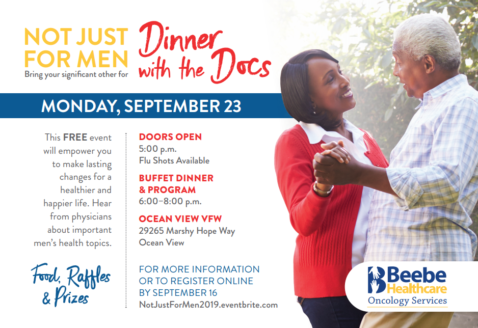 Register today for the Not Just for Men event!