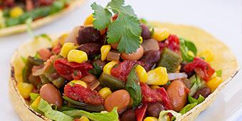 Ornish bean taco