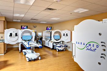 Hyperbaric Oxygen Chambers improve healing.