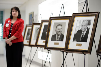 Newly unveiled Board Chair Portraits