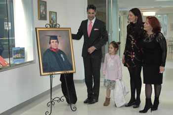 The Saberi Family Unveils Dr. Mansour Saberi's Portrait_Jan. 29