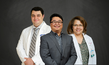 Shown are the physicians with Beebe Pulmonary Associates (left to right):  Sevak Keshishyan, MD, Victor Banzon, MD, and Ercilia Arias, MD.