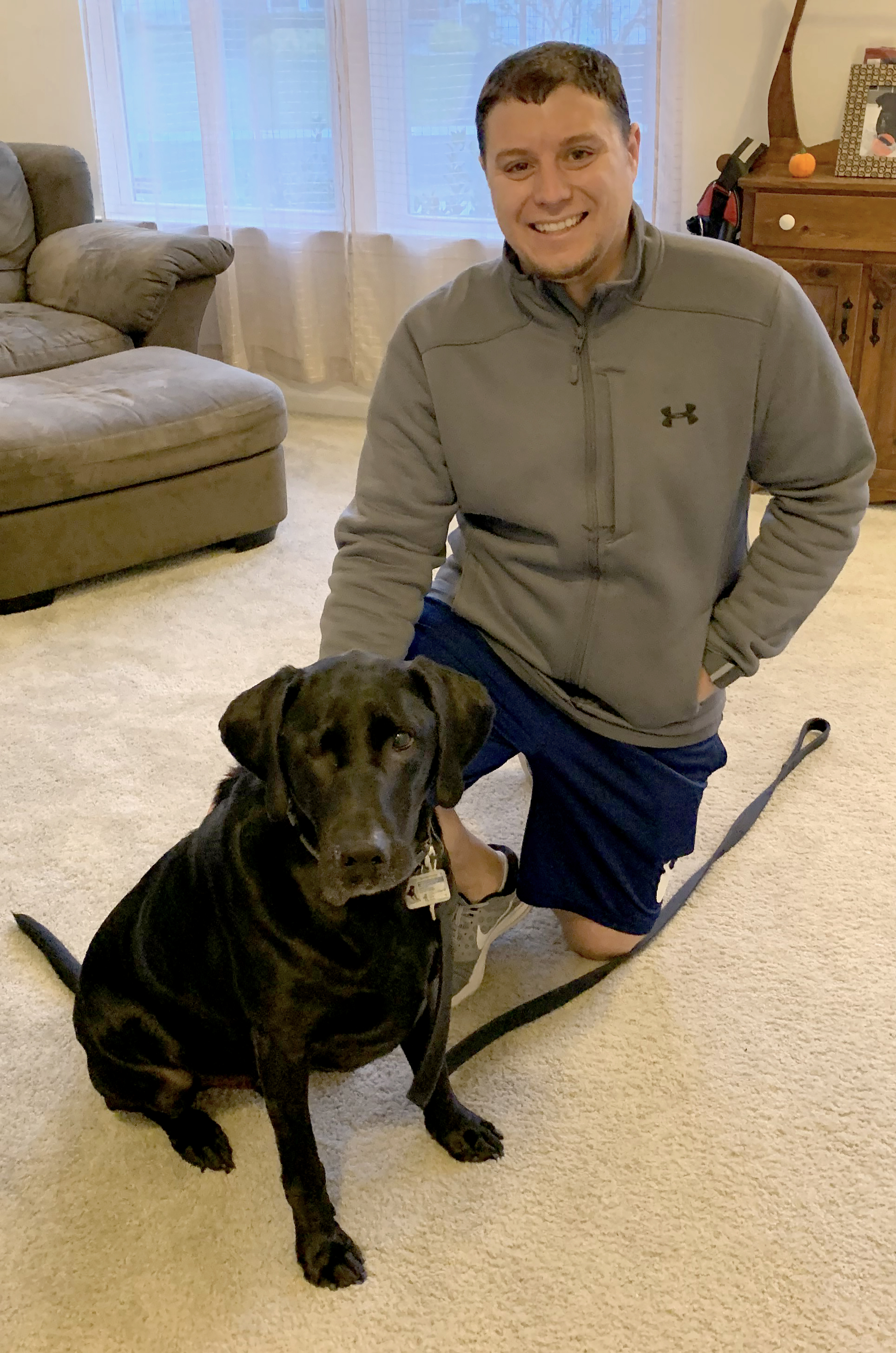 Ryan Marshall and his dog, Oakley