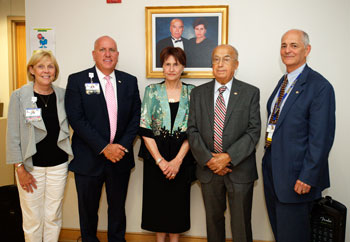 Beebe Honors Dr. Anis and Sue Saliba with Portrait Unveil and Celebratory Naming