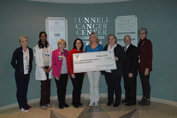 Big Fish Grill Restaurant/Foundation check presentation at Tunnell Cancer Center