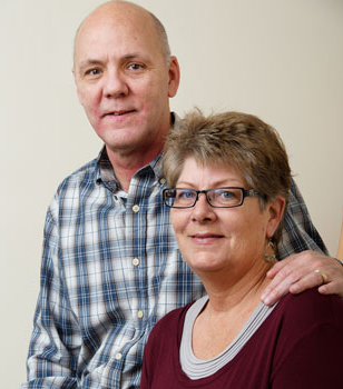 Thomas and Kim Killean, oncology patients