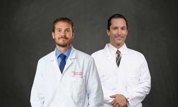Shown are the physicians with Beebe Travel Medicine & Infectious Disease (left to right):  William Chasanov, DO, and Scott Olewiler, MD.