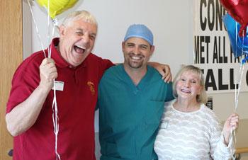 VanScivers with Dr Joseph Farrell, orthopaedic surgeon