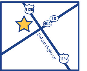 Beebe Georgetown map