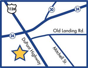 Millsboro Location Map