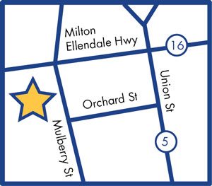 Milton Location Map