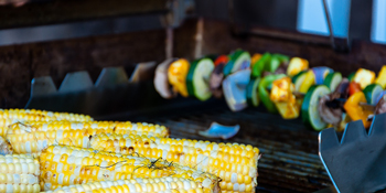 Grill corn and vegetables for a plant-based spin on the backyard barbecue.