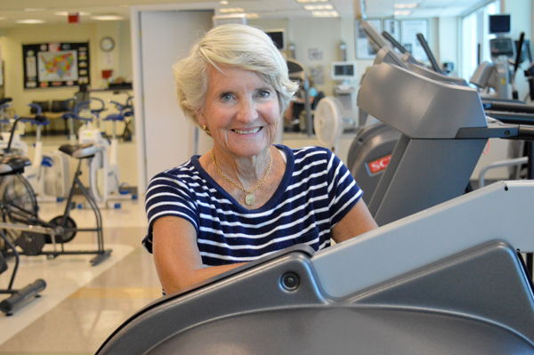 Dinah Reath had a heart attack while teaching an aquatic exercise class. Now, after two stents and Cardiac Rehab, Dinah is excited to share her knowledge as a volunteer cardiac coach.