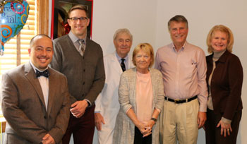 Beebe Vascular doctors: Dr. Neves, Dr. Ryan, and Dr. Katz, with Nancy Katz, Ron and Karen Drosdzal.
