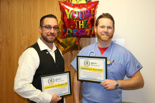 RN Jay Wingate and Dr Kevin Eanes of the Beebe Emergency Department.