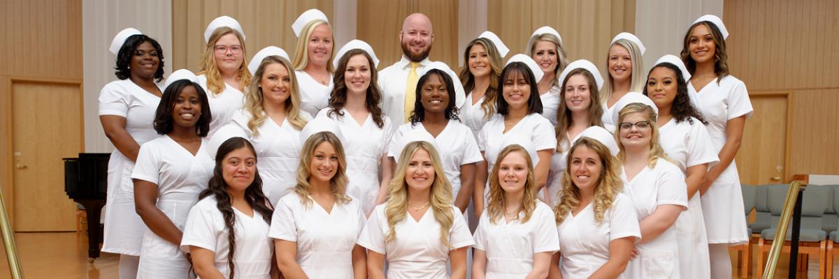 School of Nursing graduation header