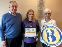 Mike and Mary Ellen South made a special visit to Beebe's Emergency Department to thank Dr. Emily Massey, center, for her compassionate and excellent care.