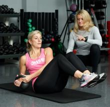 Alison Houck works out at Rise.