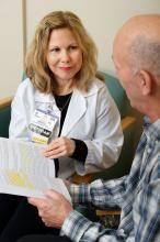Kim Westcott with Thomas Killean, patient
