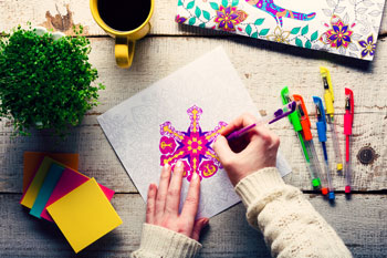 Coloring can be a way to relax and ease stress.