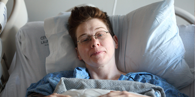Woman in pre-surgery
