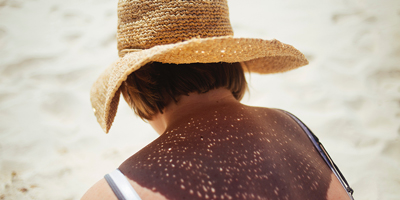 Wearing a hat during the heat of the day can protect you from harmful UV rays.